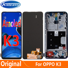 Origonal Amoled Display For Oppo K3 LCD Display Screen Touch Digitizer With Frame CPH1955 CUN-AL00 PCGM00 LCD Glass Screen