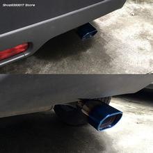 цена на Car Exhaust Muffler Tip Round Stainless Steel Pipe Chrome Exhaust Tail Muffler Tip Pipe For suzuki vitara 2018 2019 Accessories