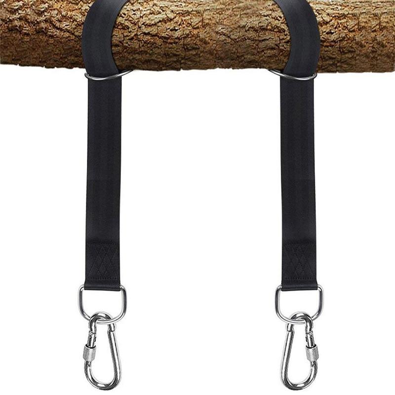 Tree Swing Hanging Kit Hammock Straps Set  350 KG Load Capacity OutDoor Camping Hiking Hammock Hanging Belt