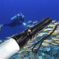 Diving Torch, 1200 Lumen XM L2 LED 100m Underwater Waterproof Submarine Light FishingBright Professional Scuba Flashlight Safety