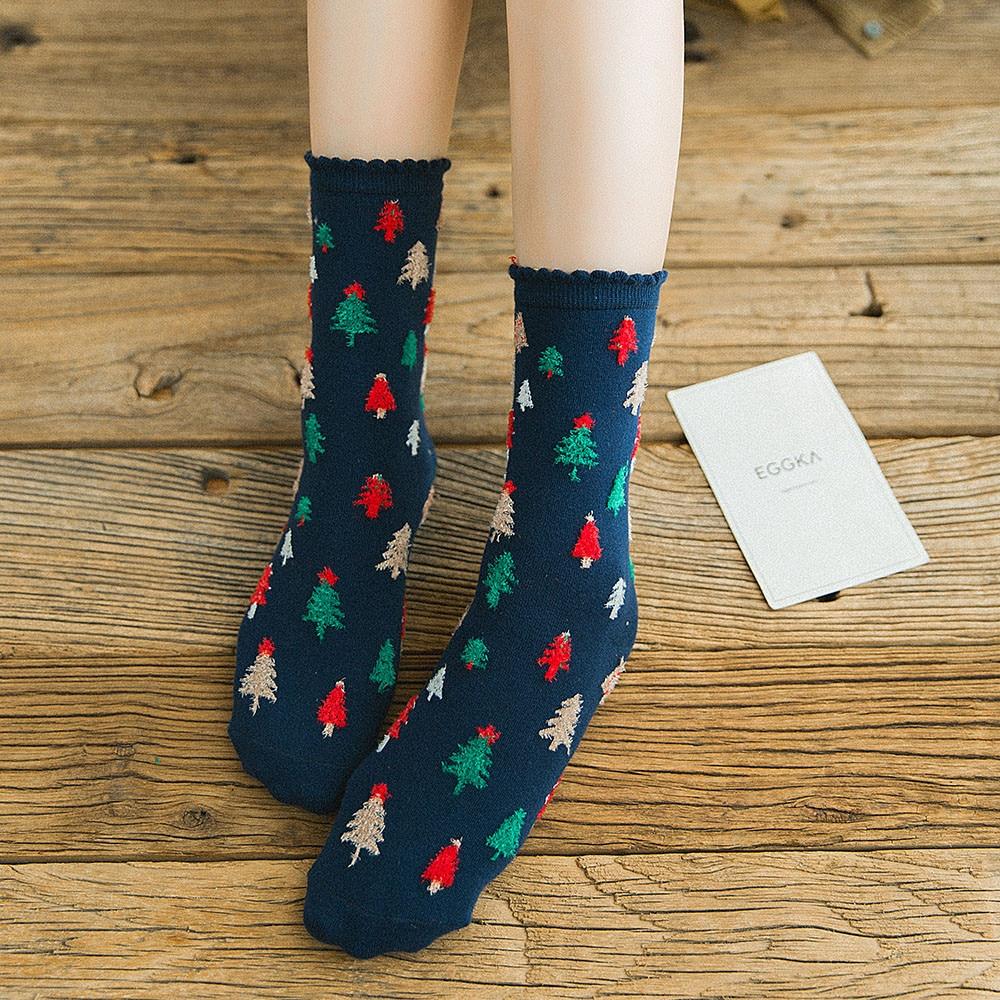 Funny Cute Cartoon Socks Christmas Women Cotton Multi-Color Women's Winter Socks Harajuku Skarpetki Calcetines носки с принтом