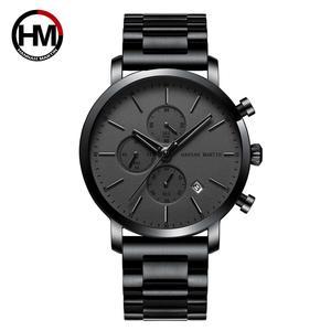 Relojes de pulsera para hombre, multifunción, esfera pequeña, malla de acero inoxidable, resistente al agua, Masculino