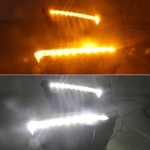 Image 5 - רכב מהבהב רכב 12V DRL יום אורות מנורת עבור רוסיה קאיה ריו X קו 2018 2019 foglamp אוטומטי נהיגה בשעות היום ריצת אורות