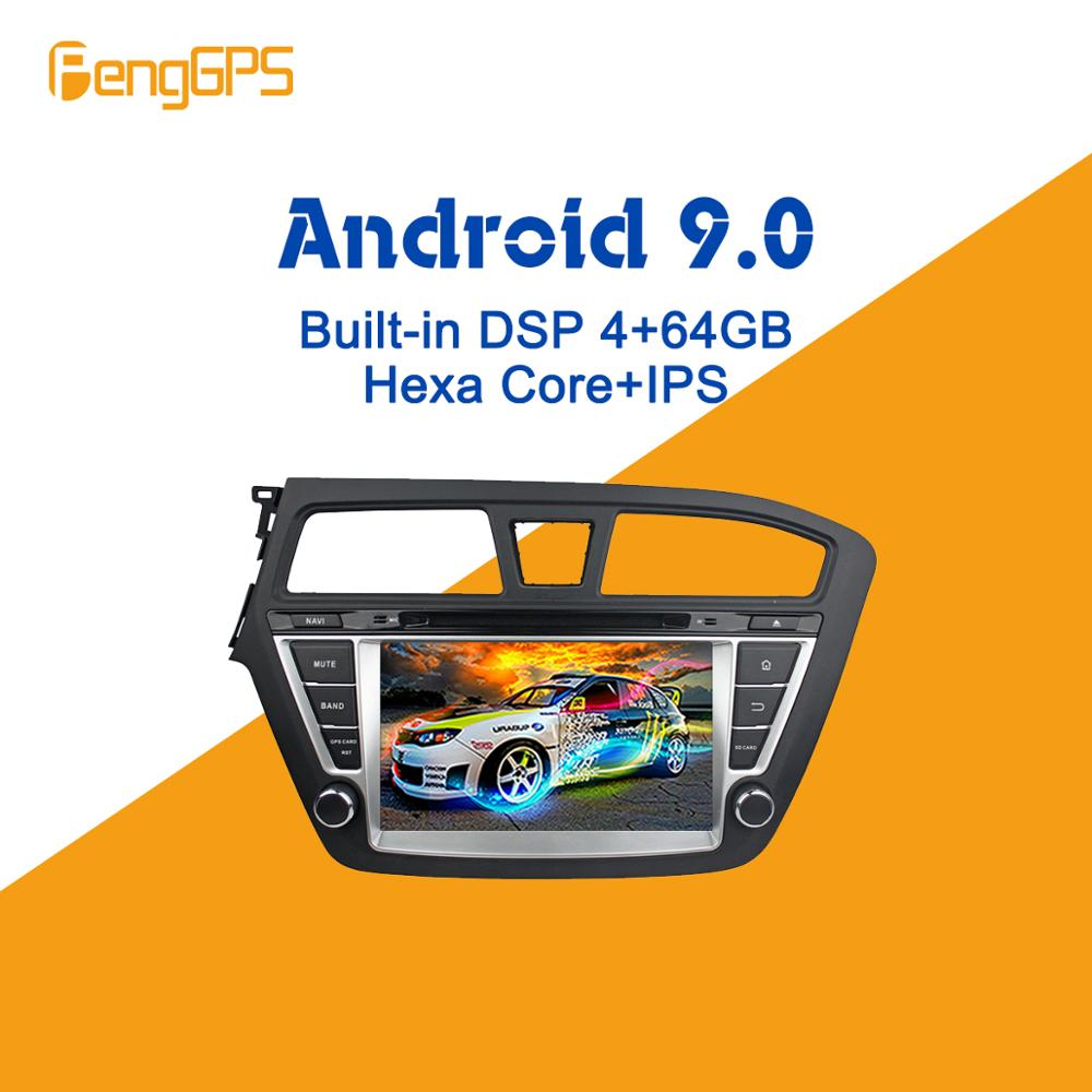 Android 9.0 PX6 DSP For Hyundai I20 2014-2018 Car Multimedia Stereo Player DVD Radio GPS Navigation Head Unit Audio