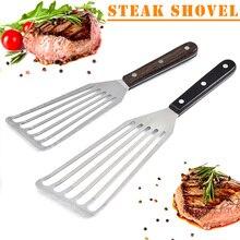 Новинка 1 шт. шлицевая лопаточка для рыбы из нержавеющей стали гибкий кухонный шпатель для барбекю XOA88