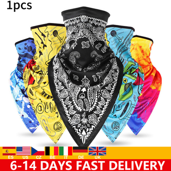 Triangle Bandana Face Scarves Hanging Ear Tube Scarf Ice Silk Neck Gaiter Cover Anti-UV Smooth Breathable Headband Men Women men women triangle bandana summer face cover shield hanging ear tube scarf ice silk neck gaiter balaclava breathable headband