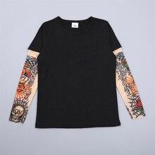 Новая Брендовая детская одежда футболки с принтом тату для маленьких мальчиков осенне-Весенние футболки с длинными рукавами в стиле пэчворк, футболка в стиле хип-хоп топы для детей