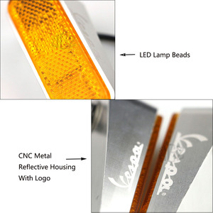 Image 5 - Motorcycle LED Side Yellow Turn Signal Lights CNC Indicator Left Right Lamp Scooter For VESPA GTS 300 SPRINT 150 PRIMAVERA 150