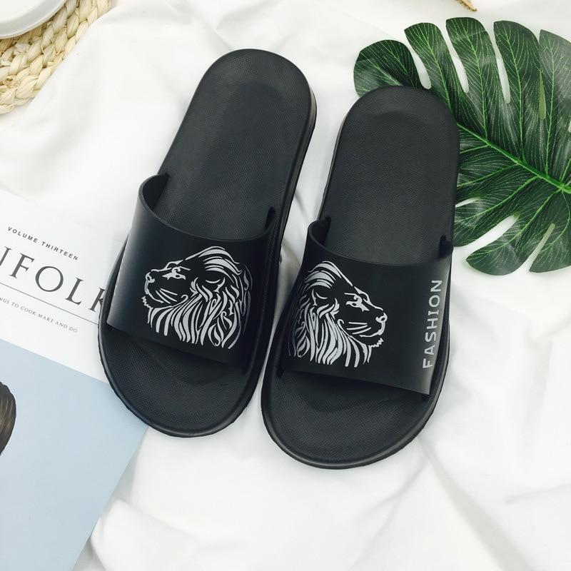 Men's Slippers EVA Slippers Men Shoes Women Pair Of Flip Flops Soft Black And White Casual Stripes Summer Male Chaussures Femme