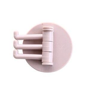 Image 5 - Moda 3 sztuk/zestaw wielofunkcyjny obrotowy hak łazienka bez szwu hak mocny klej wodoodporny hak akcesoria do łazienki 2020
