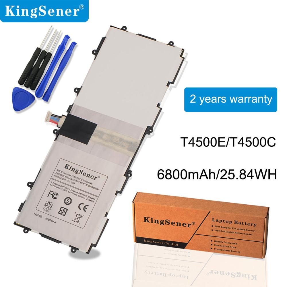 KingSener T4500E 3 T4500C Bateria de Substituição Para Samsung Galaxy Tab 10.1 P5200 P5210 P5220 P5213 GT-P5200 SP3081A9H 6800mAh