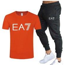 2021 new brand casual sportswear men's suit hoodie + pants two-piece hooded sweatshirt printed sportswear suit plus size
