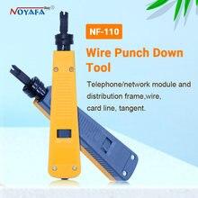 Noyafa 100% original, telefone conector, cabo rj11, rj45, perfurar, rede, kit de ferramenta profissional