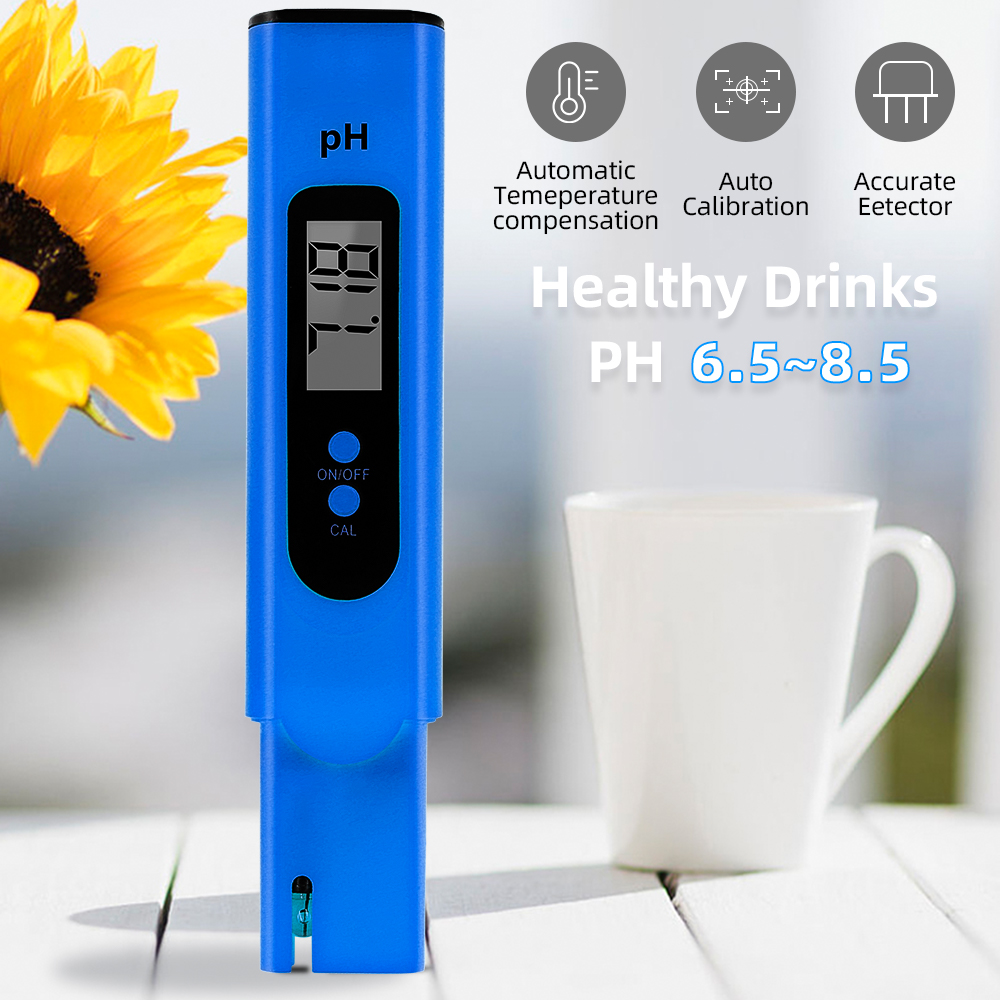 Digital PH Meter LCD Display PH Tester Water Quality Monitor Test Pen Automatic Calibration Pocket Testers For Pool Laboratory