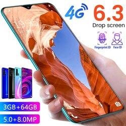 R30 Pro Smartphone Android 4G telefony komórkowe 6.3 Cal Dual Sim odblokowany telefon komórkowy ekran kropli wody