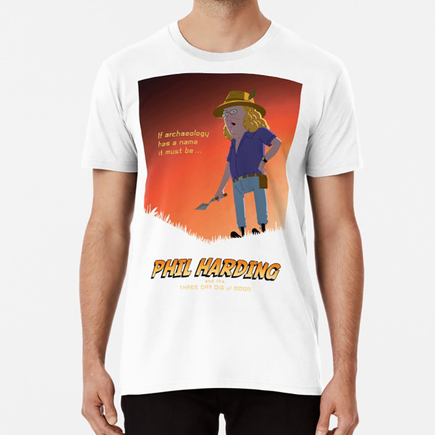 Phil Harding - Time Team T Shirt Time Team Phil Harding Tony Robinson British Tv Archeology History Vector Celebrities image