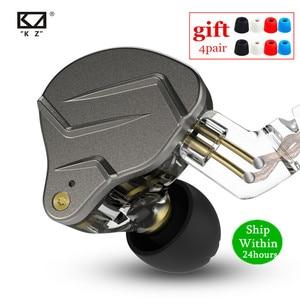 Image 1 - Newest KZ ZSN PRO 1BA+1DD Hybrid technology HIFI Metal In Ear Earphones Bass Earbud Sport Noise Cancelling Headset ZS10 PRO ZSX