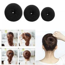 NEW Cute Girls Styling Tools Doughnut Bun Ring Shaper Hair Styling Tools Magic Shaper Donut Hair Ring Hair Styling Tool Accessor