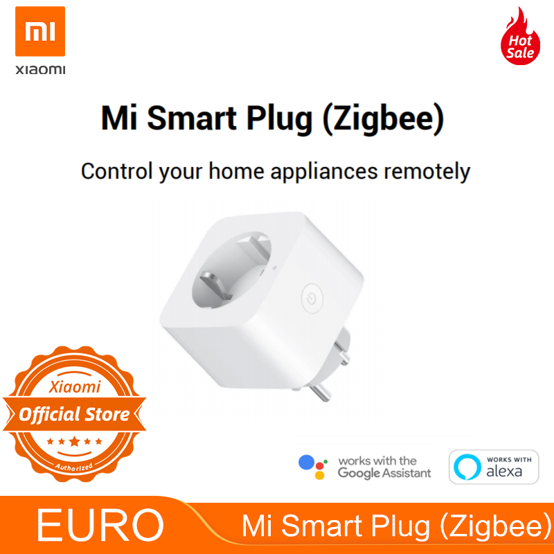 EURO Version Xiaomi Mi Smart WiFi Socket Plug Zigbee EU Plug Mijia Multifunctional Gateway APP Remote Control