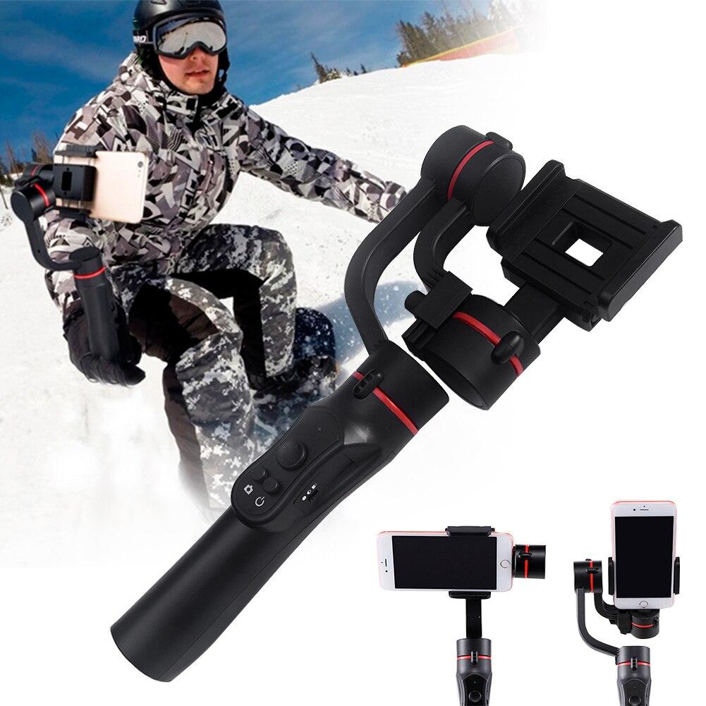 H2 3 Achse Vlog Live Einstellbare Richtung Reise Fotografie Handheld Gimbal Im Freien Unterstützung Smartphone Stabilisator USB Lade