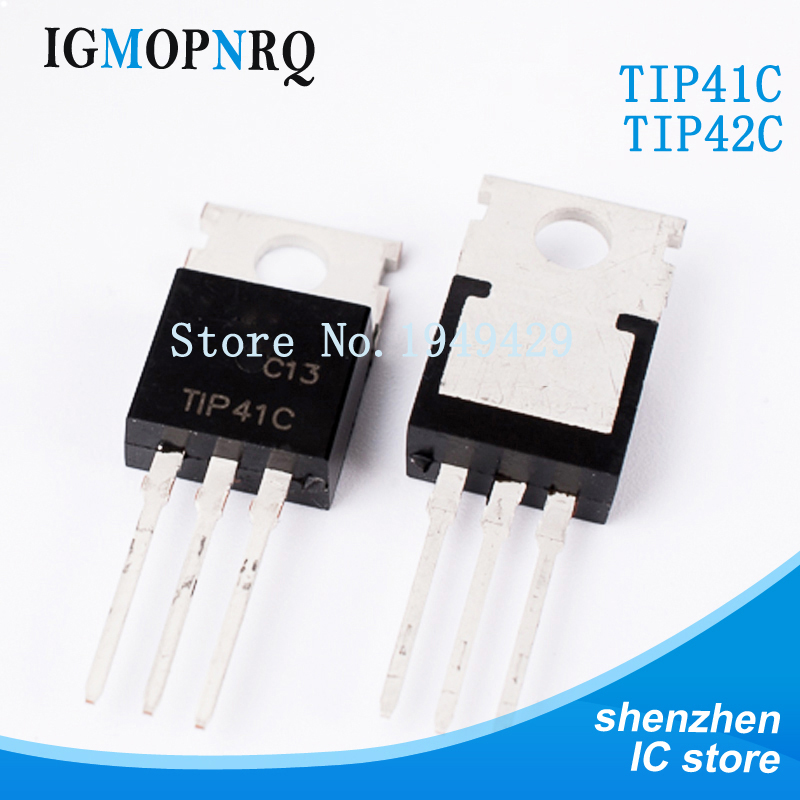 Free Shipping 20pcs/lot TIP41C TIP42C Darlington Transistor Pair Tube TO-220 New Original
