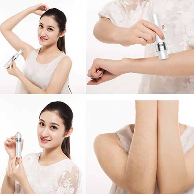 Portable USB Rechargeable 5 In 1 Electric Lady Shaver Hair Removal Trimmer Women Epilator Eyebrow Nose Trimmer Machine 2