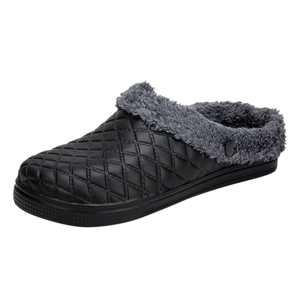 SAGACE Couple Slippers Men Large Size Casual Shoes Men Home Plus Velvet Warm Shoes Comfortable Cotton Soft Slippers Bedroom 2019