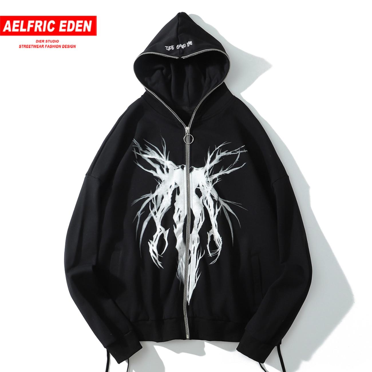 Aelfric Eden Streetwear Hoodie Mens Dark Graffiti Hip Hop Hoodie Harajuku Hoodie 2020 Autumn Fleece Pullover Sweatshirt Moletom