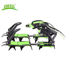 BRS 14 Teeth Ultralight Claws Crampons Shoes Non slip Cover Ice Gripper Outdoor Ski Ice Snow Grips Hiking Climbing(China)