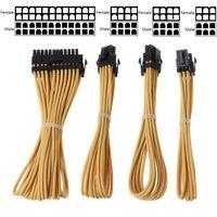 1Set Basic Extension Cable Kit 24Pin ATX CPU 4+4Pin GPU 8Pin GPU 6Pin Power Extension Cord