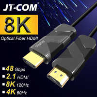 Optical Fiber HDMI 2.1 2.0 Cable Ultra-HD (UHD) 8K 4K Cable 120Hz 48Gbs with Audio Video HDMI Cord HDR 4:4:4 Lossless amplifier
