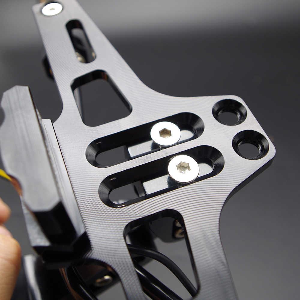 CNC אופנוע מתכוונן רישיון מספר צלחת מסגרת מחזיק סוגר עבור ימאהה wr 125 250f 450f xj 6 600 1200 400 1300 xmax