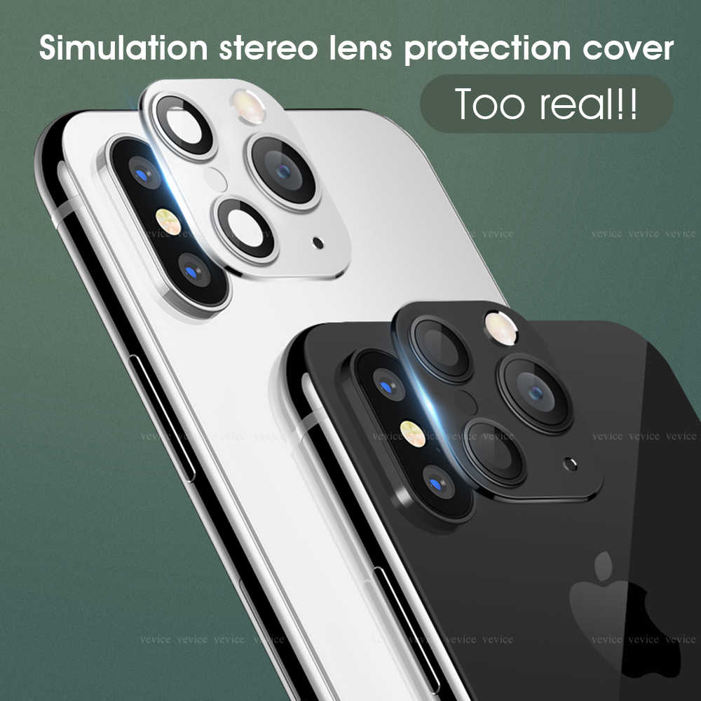 Voor iPhone X XS MAX XR Seconden Veranderen voor Apple iPhone 11 Pro MAX Lens Sticker Gemodificeerde Camera Cover Aluminium legering Ring Cirkel