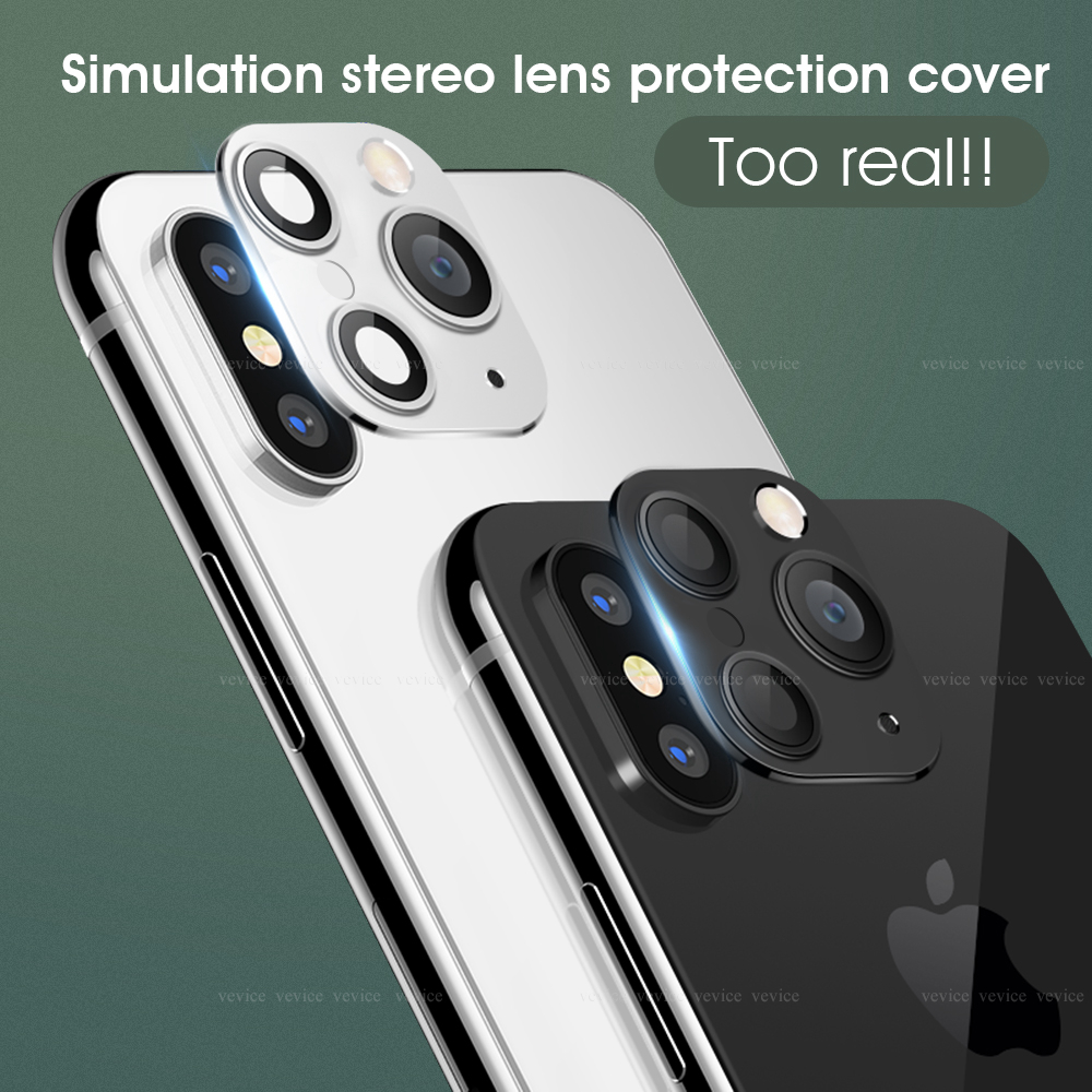 For IPhone X XS MAX XR Seconds Change For Apple IPhone 11 Pro MAX Lens Sticker Modified Camera Cover Aluminum Alloy Ring Circle
