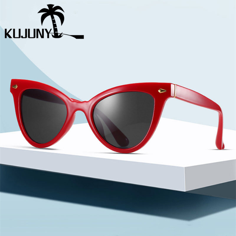 KUJUNY New Fashion <font><b>Cat</b></font> <font><b>Eye</b></font> shade <font><b>Sunglasses</b></font> For <font><b>Women</b></font> Classical <font><b>Brand</b></font> <font><b>Design</b></font> Sun Glasses Eyewears Ladies <font><b>Sexy</b></font> Cateye Eyeglasses image
