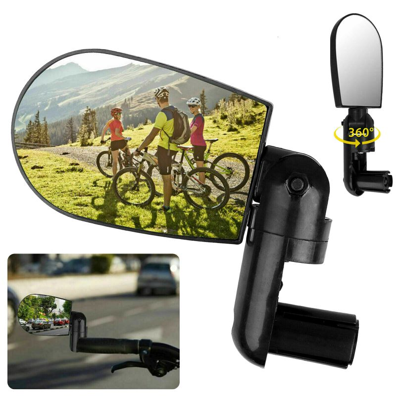 1pc High-quality Bicycle Mountain Bike Adjustable Rotatable Handle Rearview Plane Mirror Bicycle Equipment  PL
