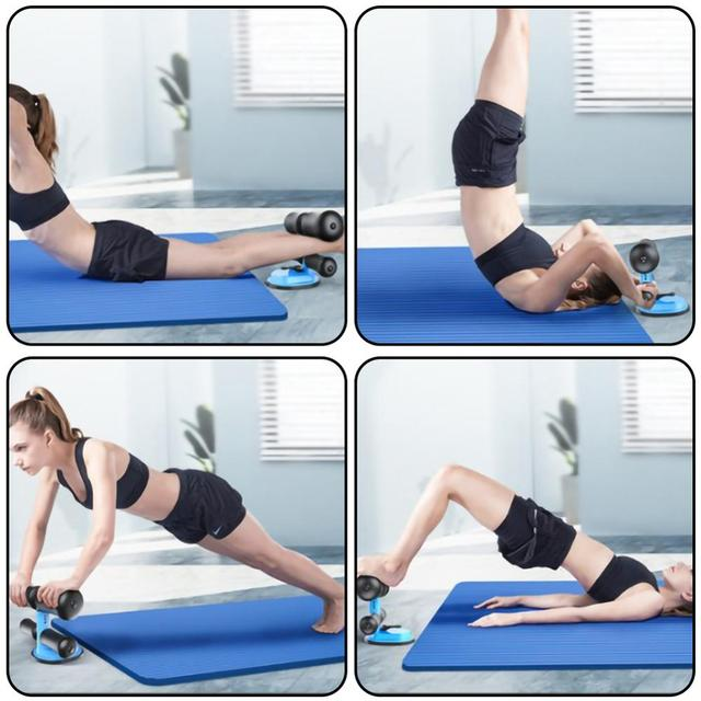 Gym workout abdominal curl exercis