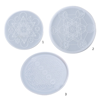 Tarot Astrology Astrolabe Tray Ornaments Silicone Mould Crystal Epoxy Resin Mold X6HE image