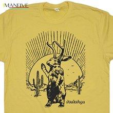 T Shirt Short Sleeve Jackalope Funny Mythical Creature Roswell New Mexico Neil Area Young Cryptozoology Shirtmandude