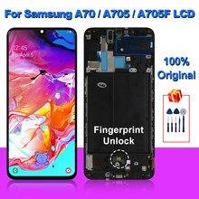 Oryginalny do Samsung Galaxy A70 wyświetlacz LCD A705F ekran dotykowy Digitizer do Samsung A705 A70 2019 ekran części zamienne