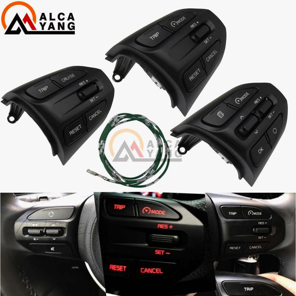 Steering Wheel Button For KIA K2 RIO 2017 2018 2019 RIO X LINE Buttons Bluetooth Phone Cruise Control Volume .