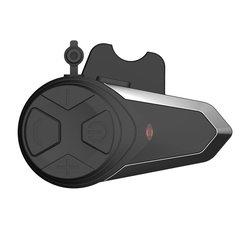 Motorcycle BT Interphone Motorbike Helmet Wireless Intercom FM Headset Portable Mini Interphone