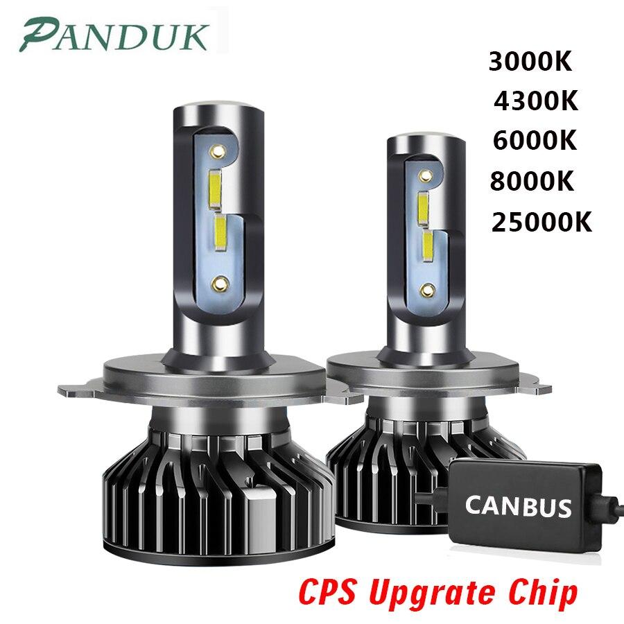 PANDUK 16000LM светодиодный головной светильник с чипом CSP 110W 3000K 6000K H4 светодиодный H7 Canbus H1 H3 H8 H11 9005 9006 Автомобильные фары головного света, противот...