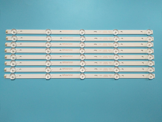 Nuovo 8 Pz/lotto 5LED(3V) 415 millimetri striscia di Retroilluminazione A LED per 43PFF5459 42PUF6052 K420WD7 4708 K420WD A3213K01 K420WDB TH 43C500C