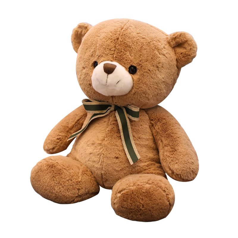High Quality 3 Colors Teddy Bear With Ribbon Stuffed Animal Bear Plush Toys For Children Doll Pillow Kids Lovers Birthday Gift