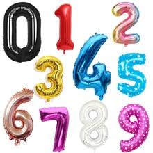 16/32/40 polegada digital folha de alumínio balão ouro prata rosa ouro número hélio balão festa aniversário decoração casamento bola