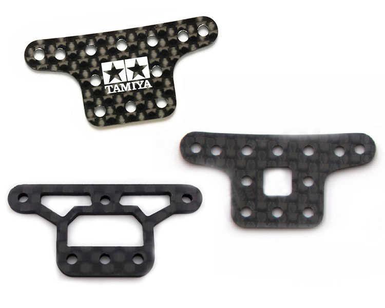 Mini 4WD Halterung 1,5mm Carbon Fiber Gegengewicht Feste Halter Bock Carbon Platte für RC Tamiya Mini 4WD Auto 94976/95387