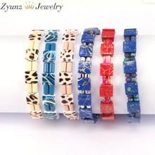 5 pces, joia feita à mão da forma do bracelete da telha da cor do esmalte da pulseira boêmia