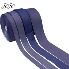 JOJO BOWS 25/38/50/75mm 5y Grosgrain Ribbon Solid Denim Webbing For Apparel Sewing Party Decoration DIY Hair Bows Accessories