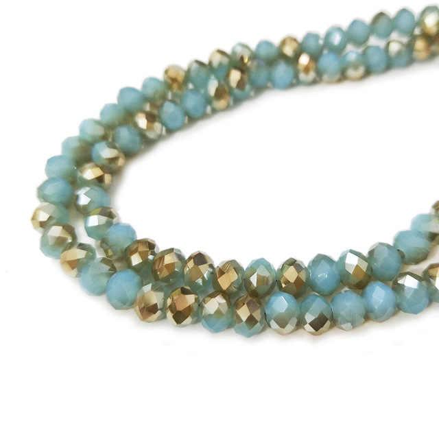 STENYA 4*3mm Mix Farbe Kristall Perlen Rondelle Faceted Bead Bow Knoten Diy Schmuck Erkenntnisse Quarz Ohrring Halskette zubehör